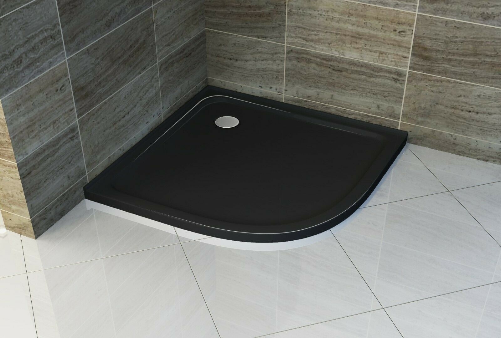 BLACK CURVED 900X900mm SHOWER BASE **Free Delivery**