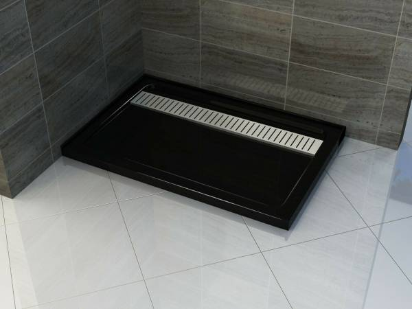 BLACK SS GRATE RECTANGULAR 900X1800 MM SHOWER BASE **Free Delivery**