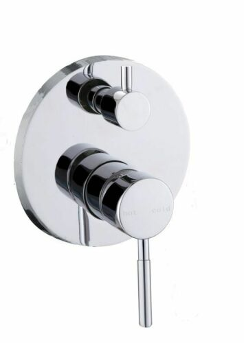 HIGH QUALITY ROUND CHROME FINISH SHOWER/BATH MIXER WITH DIVERTER