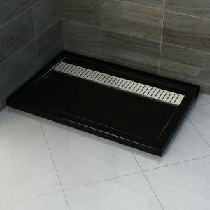 BLACK SS GRATE RECTANGULAR 900X1500 MM SHOWER BASE **Free Delivery**