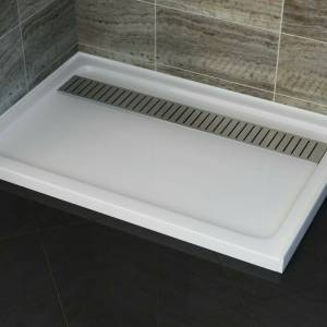 WHITE SS GRATE RECTANGULAR 900X1700 MM SHOWER BASE **Free Pick Up**
