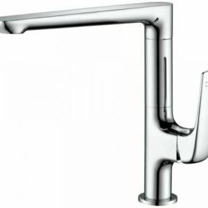 HIGH QUALITY ROUNDED SQUARE CHROME FINISH SINK MIXER