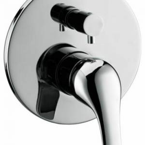 HIGH QUALITY ROUND CHROME FINISH BASIC SHOWER MIXER WITH DIVERTER